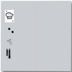 Magnetisch glasbord Naga 100x100cm wit