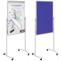 Multibord Legamaster mobiel met blauw prikbord