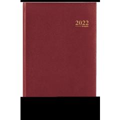 Agenda Brepols Saturnus Lima bordeaux 2020 1 dag/pagina