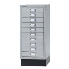 Ladenkast Bisley A4 10 laden zilver zonder slot