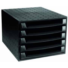Ladenblok Exacompta The Box Ecoblack PP A4 maxi 5-laden zwart