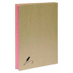 Handtekenmap Exacompta Forever karton A4 roze vloei 20-vaks kraft