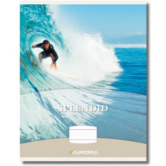 Schrift Aurora Spendid karton A5 gelijnd 32blz geniet met speciale liniëring en rode kantlijn
