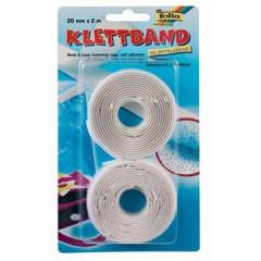 Velcro tape Folia 20mm x 2m wit (2)