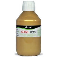 Acrylverf Darwi Metal Effect 250ml goud
