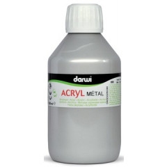 Acrylverf Darwi Metal Effect 250ml zilver