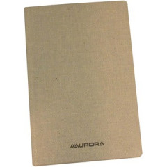 Copybook Aurora linnen kaft 14,5x22cm geruit 384blz grijs