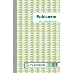 Facturen Exacompta karton 21x13,5cm 50blad dupli zelfkopiërend nederlandstalig