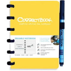 Schrift Correctbook A6 gelijnd herbruikbaar geel