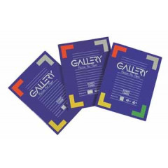 Schrift Gallery A5 gelijnd 75blz assorti