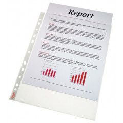 Showtas Esselte Standaard PP A4 70µ 11-gaats gekorreld transparant (100)