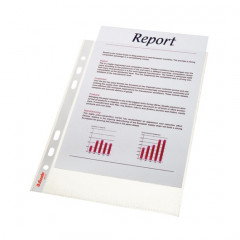 Showtas Esselte Standaard PP A5 65µ 6-gaats gekorreld transparant (100)