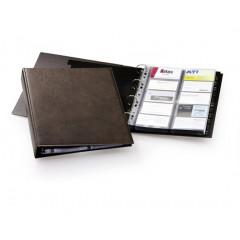 Visitekaartenmap Durable Visifix A4 voor 400 kaarten bruin