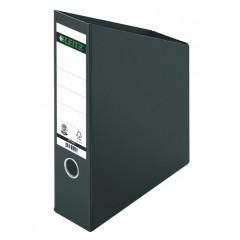 Tijdschriftencassette Leitz karton A4 70mm opvouwbaar zwart