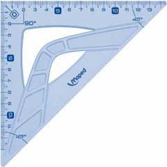 Tekendriehoek winkelhaak Maped geometric 21cm 45° blauw