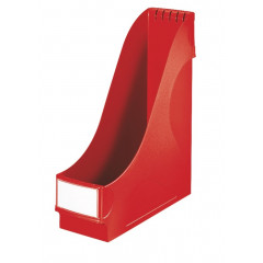 Tijdschriftencassette Leitz PP A4 90mm extra breed rood
