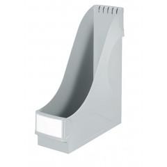 Tijdschriftencassette Leitz standaard PP 75mm grijs (242585)