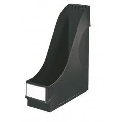 Tijdschriftencassette Leitz PP A4 90mm extra breed zwart