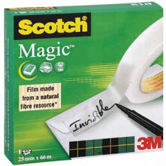 Plakband Scotch magic tape 25mm x 66m