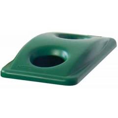 Deksel Rubbermaid voor vuilniscontainer Slim Jim voor flessen en groen vuilnis groen