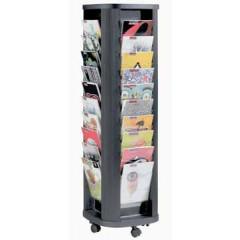 Mobiele folderdisplay Paperflow carrousel zwart
