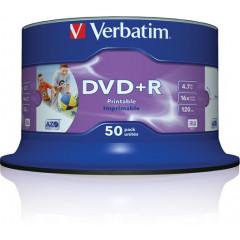 DVD+R Verbatim 4.7GB 16x spindel PRINTABLE (50)