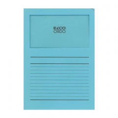 L-map Elco Ordo met venster A4 120gr blauw (100)(145B)