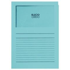L-map Elco Ordo met venster A4 120gr diepblauw (100)