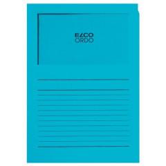 L-map Elco Ordo met venster A4 120gr kobaltblauw (100)