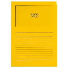 L-map Elco Ordo met venster A4 120gr goudgeel (100)