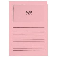 L-map Elco Ordo met venster A4 120gr roze (100)