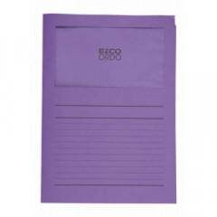 L-map Elco Ordo met venster A4 120gr violet (100)