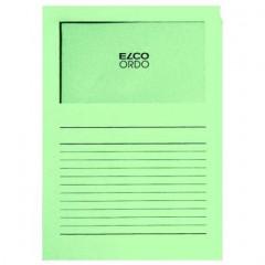 L-map Elco Ordo met venster A4 120gr groen (100)(145V)