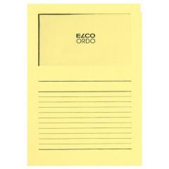 L-map Elco Ordo met venster A4 120gr geel(100)