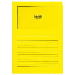 L-map Elco Ordo met venster A4 120gr heldergeel (100)