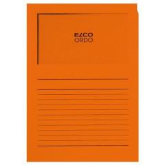 L-map Elco Ordo met venster A4 120gr oranje(100)