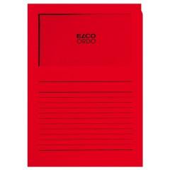 L-map Elco Ordo met venster A4 120gr dieprood (100)