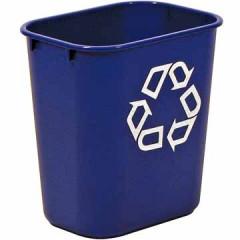 Recyclagebak Rubbermaid zonder zijbakjes 26,6l blauw