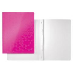 Snelhechtmap Leitz WOW gelamineerd karton A4 roze metallic (3010023)