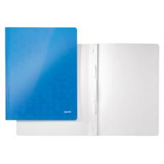 Snelhechtmap Leitz WOW gelamineerd karton A4 blauw metallic (3010036)