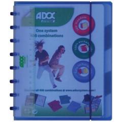 Schrift Adoc Colorlines PP A5 gelijnd 144blz met tabs, meetlat en elastiek assorti