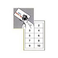 Eticard 10 etik/blad 90x50.8 170gr micro perforatie 50bl/d