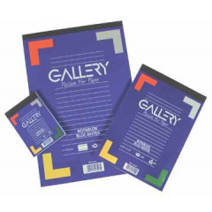 Schrijfblok Gallery geniet A4 gelijnd 100 vel 70gr afscheurbaar
