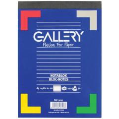 Schrijfblok Gallery geniet A5 gelijnd 100 vel 70gr afscheurbaar
