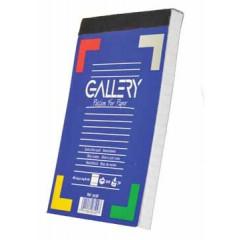 Schrijfblok Gallery 10,5x14,8cm A6 gelijnd 100 vel