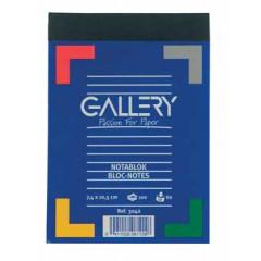 Schrijfblok Gallery 7,4x10,5cm A7 gelijnd 100 vel