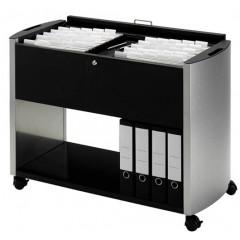 Hangmappenwagen Durable design line dubel zilver/zwart (5863719)