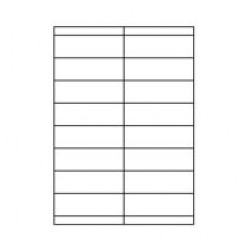 Etilaser 16 etik/blad 105x33,9 500bl/d