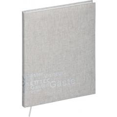 Gastenboek Pagna lichtgrijs