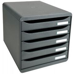 Ladenblok Exacompta Big Box Plus Classic PS A4 maxi 5 open laden grijs